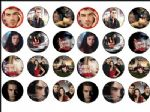 24 x Vampire Diaries Wafer Rice Paper Cake Toppers